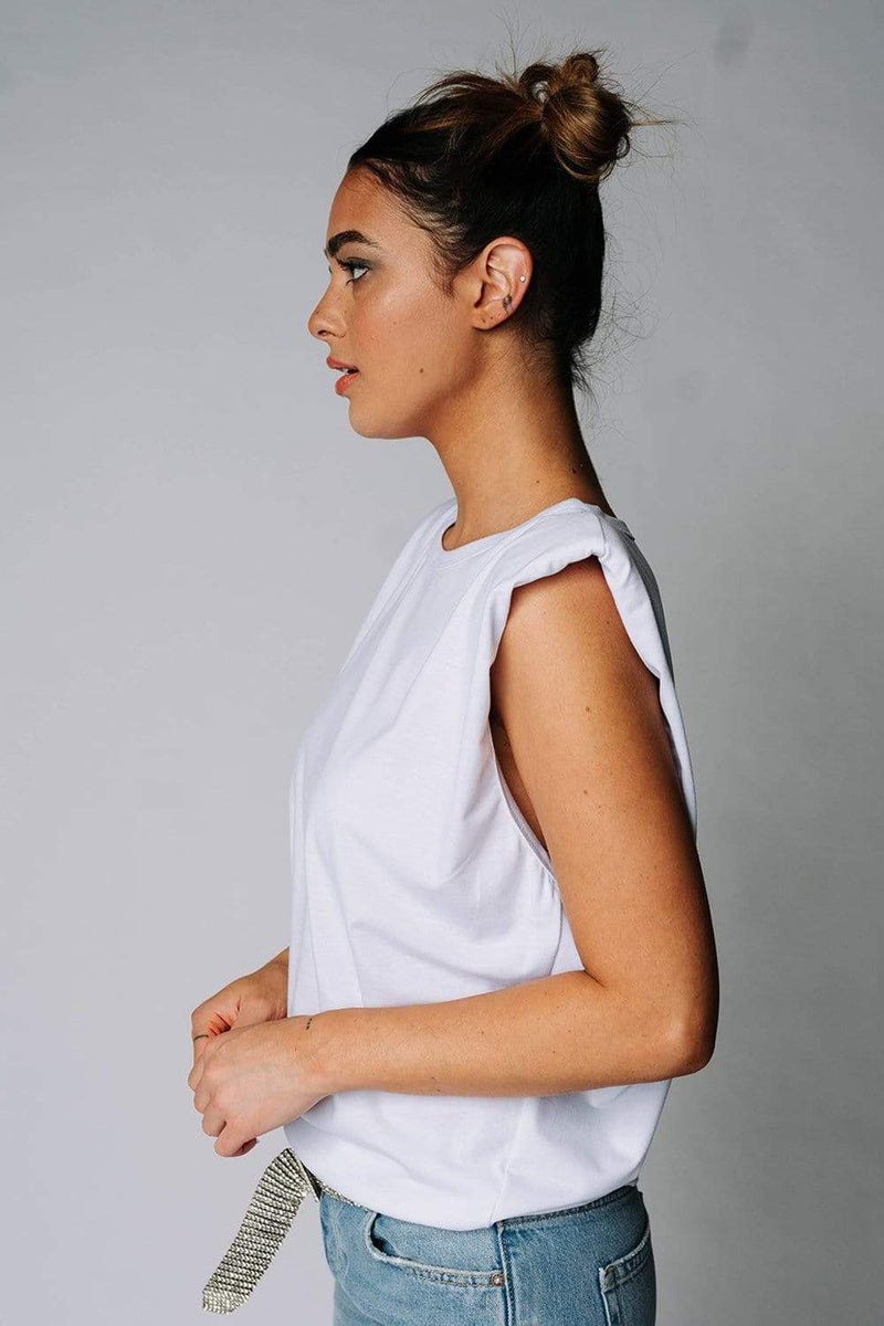 The Beverly Top in White