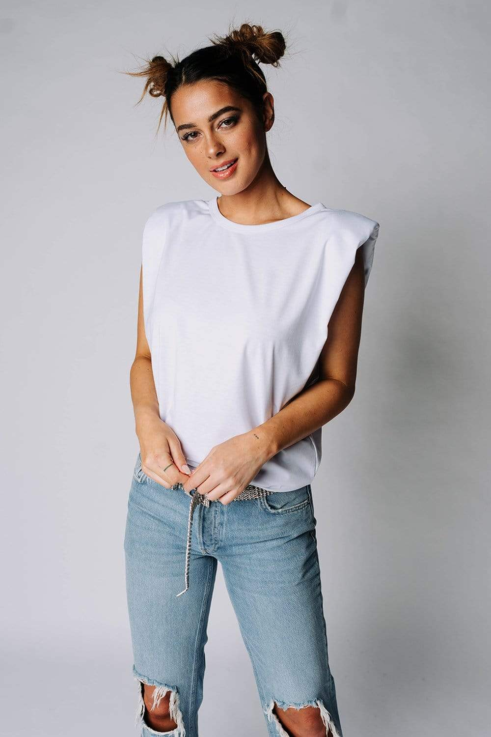 WAREHOUSE  The Beverly Top in White