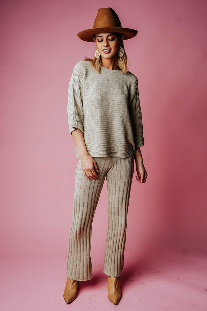 The Brooke Pant in Pistachio, cladandcloth, By Together.