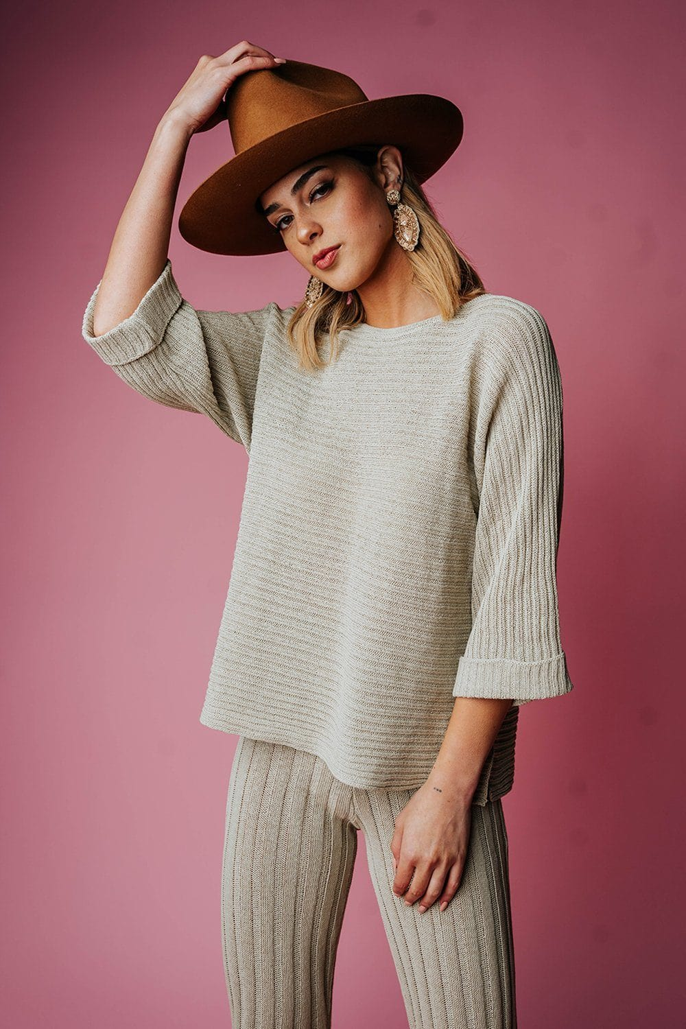 The Brooke Top in Pistachio Top By Together Clad and Cloth