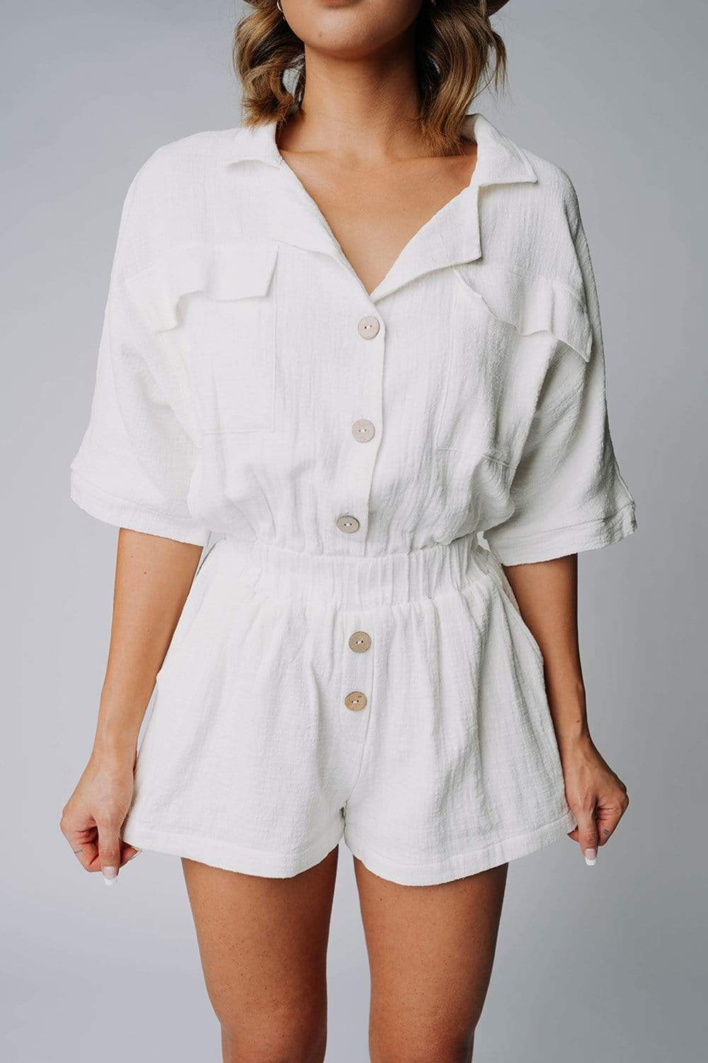 The Carter Romper in Off-White