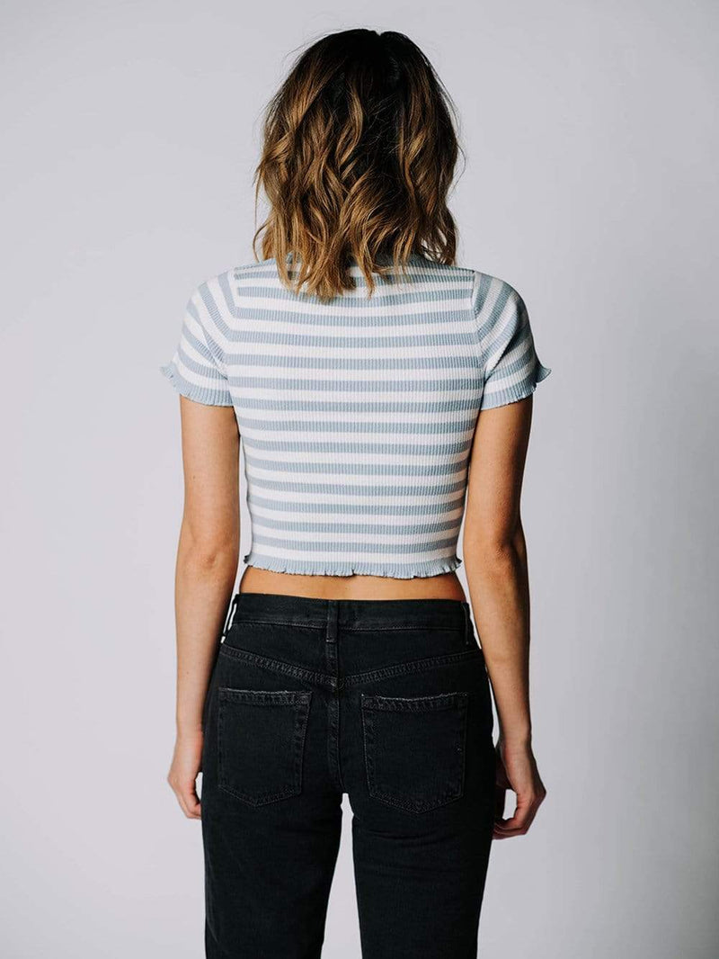 The Harry Top in Smoke Blue