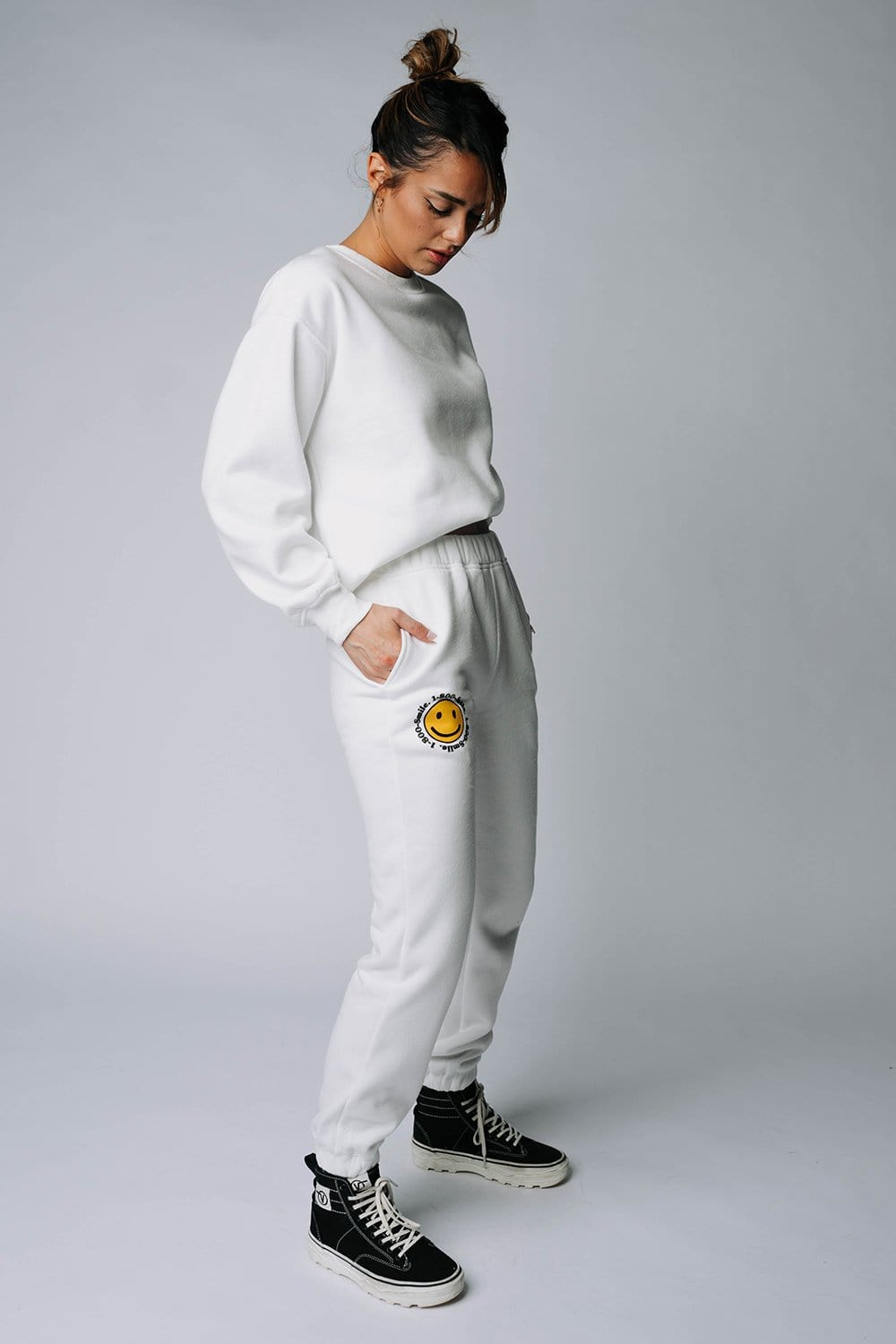 Clad and Cloth, The Justin Sweats in Off-White, Bailey Rose, Bottom.
