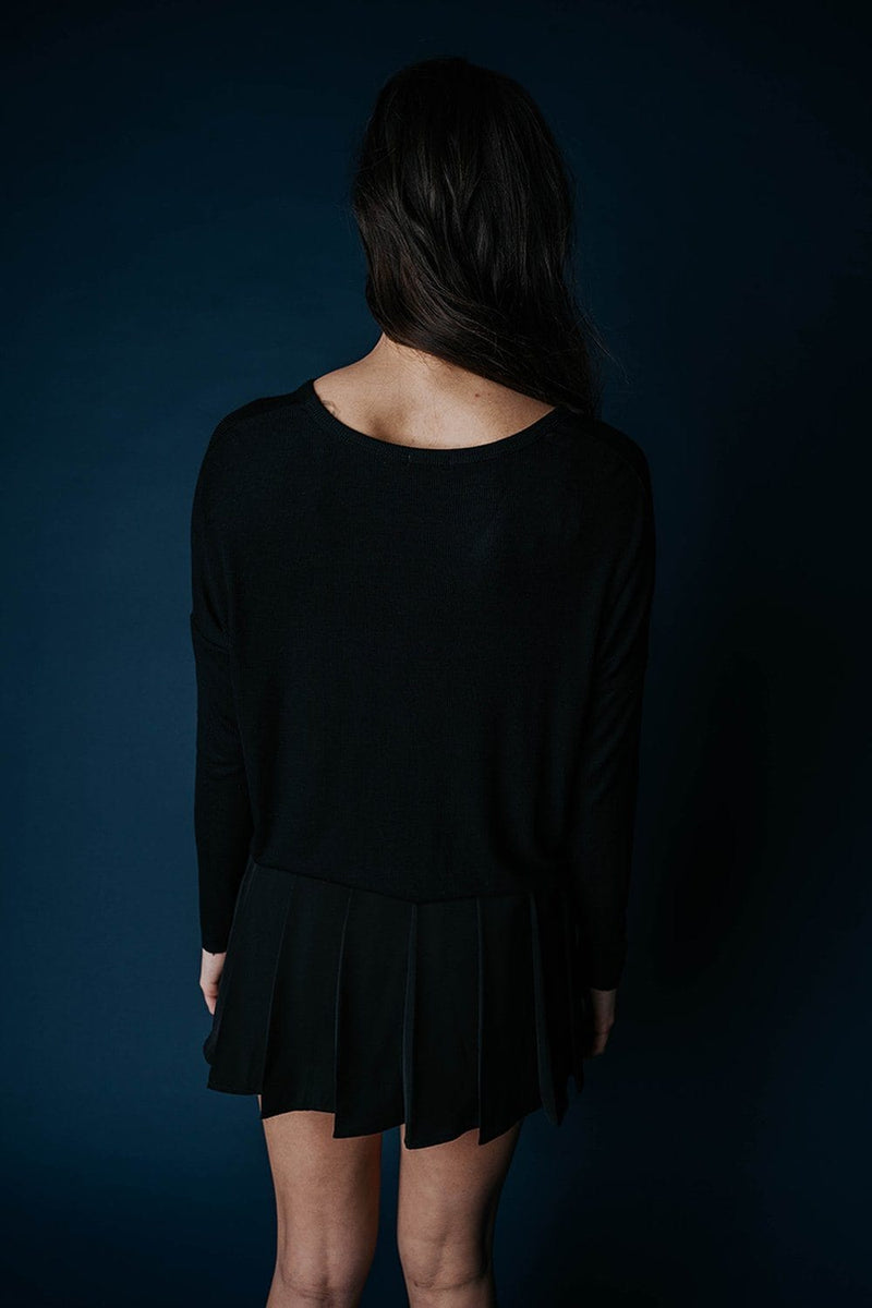 Clad and Cloth, The Kate Lounge Top in Black, Heart & Hips, Top.
