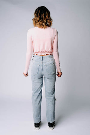 Clad and Cloth, The Kit Cardigan Set in Pink, hyfve, Top.
