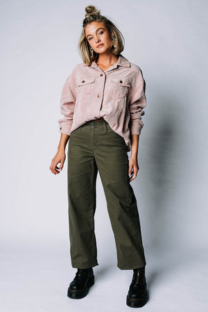 The Nancy Wheeler Jacket in Mauve Top hyfve Clad and Cloth