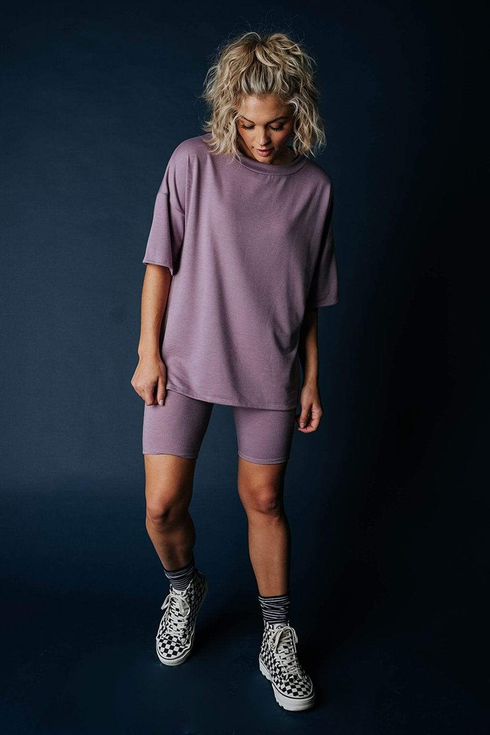 Clad and Cloth, The Olivia Set in Dusty Plum, Before You, Top.