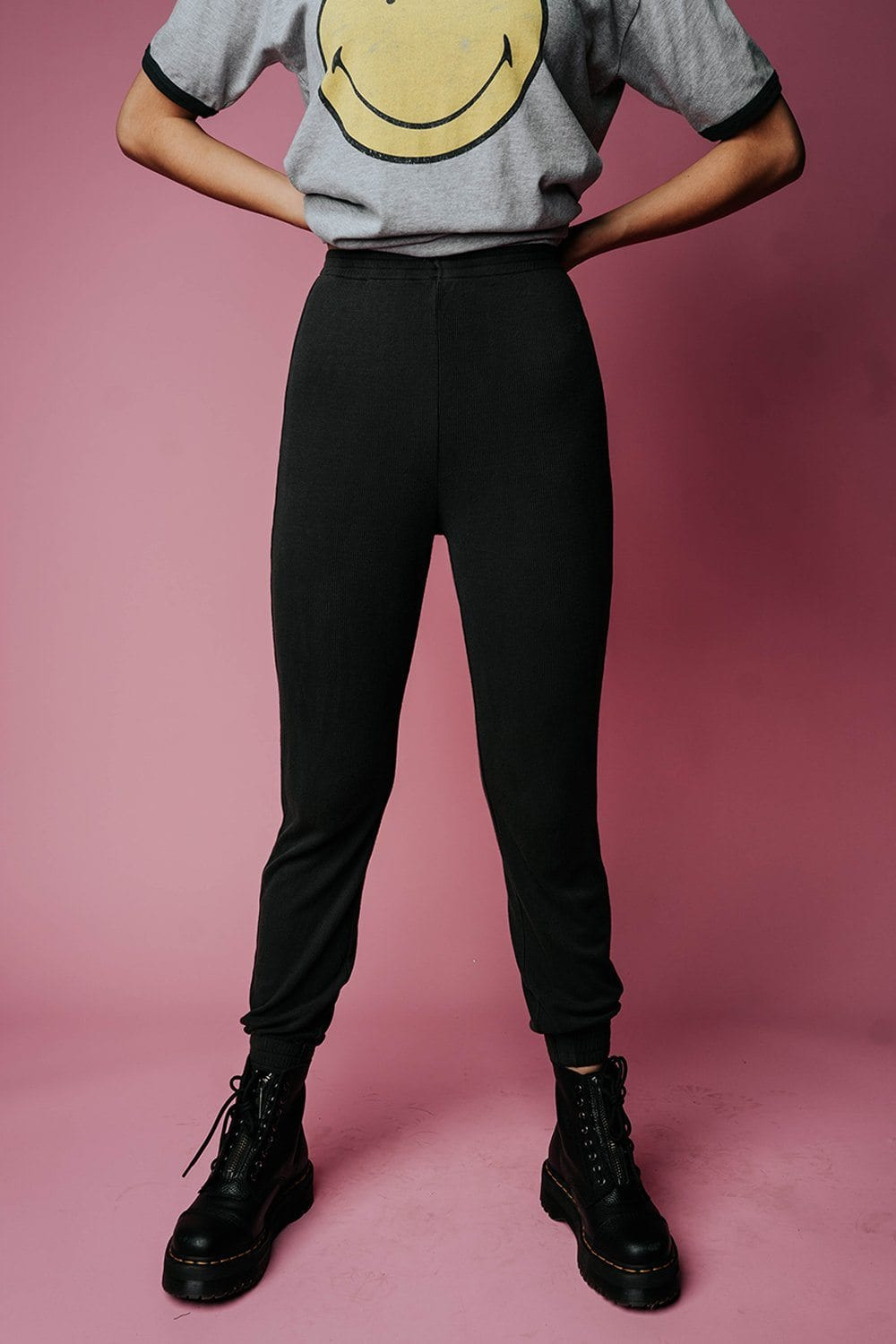 The Rickie Joggers in Charcoal Bottom n/a Clad and Cloth