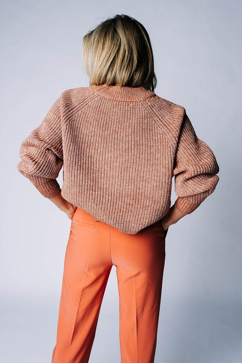 The Stanford Sweater in Hazelnut, cladandcloth, hyfve.