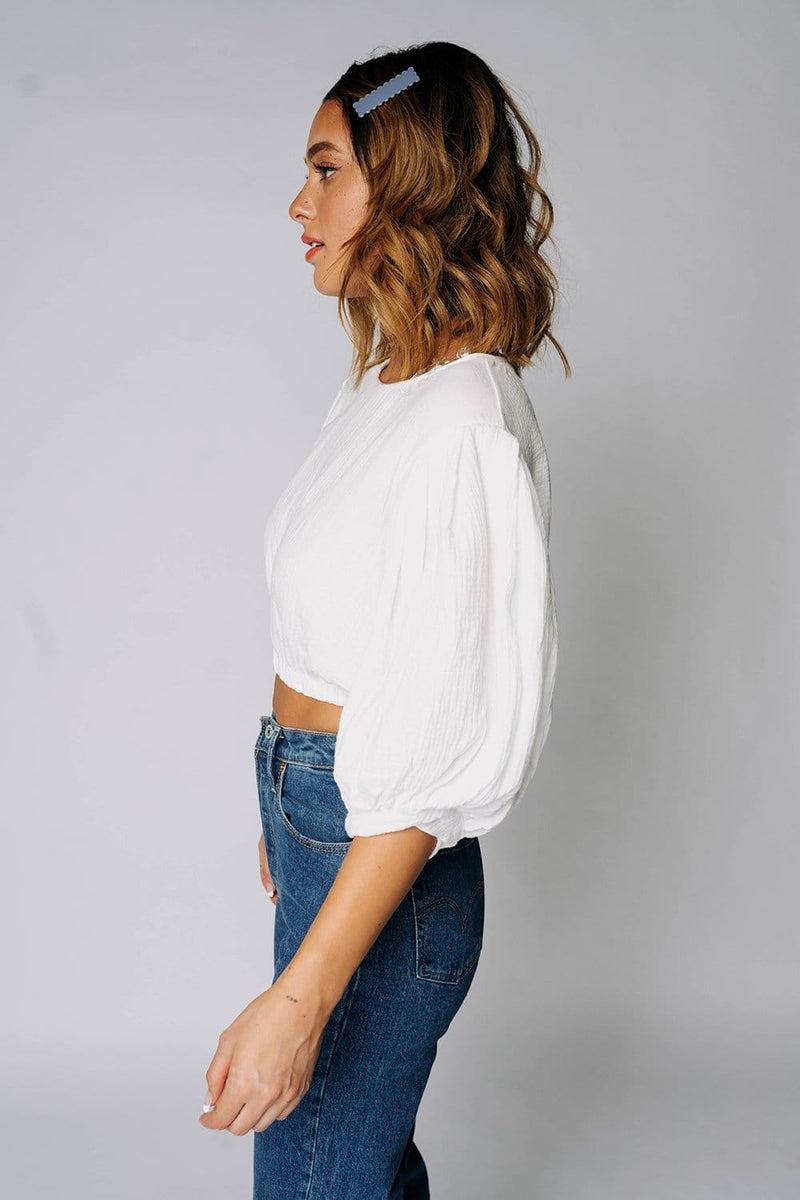 The Swan Top in Off White