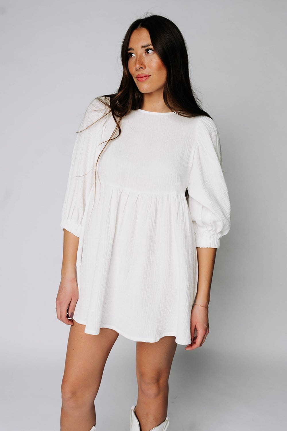 WAREHOUSE  The White Horse Mini Dress