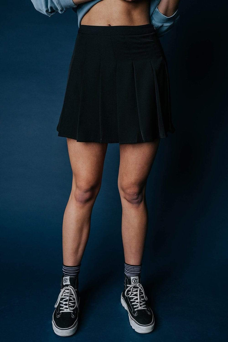 Clad and Cloth, The Williams Tennis Skirt in Black, Bailey Rose, Skirt.