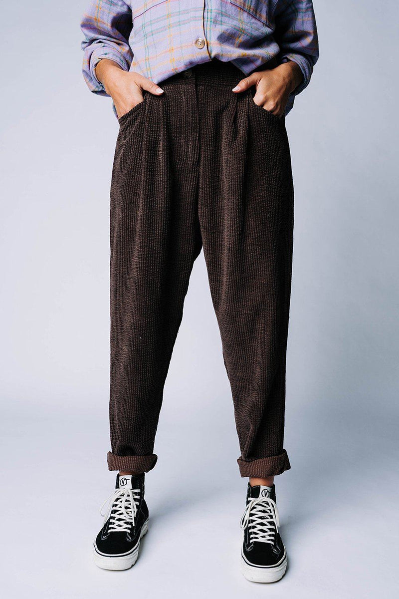 Clad and Cloth, Tommy Corduroy Pants in Brown, Clad & Cloth, Bottom.