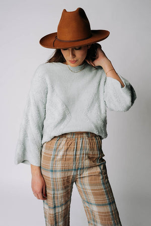 Trick Up My Sleeve Sweater in Baby Blue, cladandcloth, Promesa.