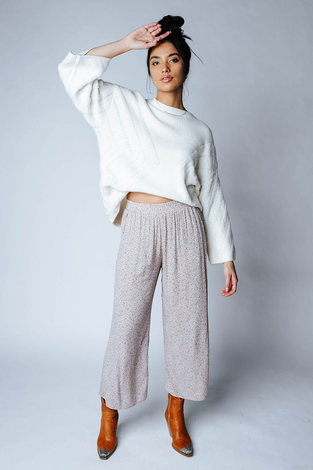 Trick Up My Sleeve Sweater in Ivory-Top-Promesa-S-Clad & Cloth