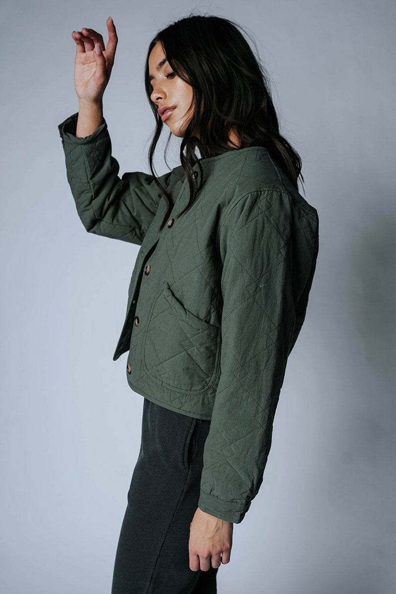 Clad and Cloth, Walk in September Coat in Olive, Wishlist, Top.