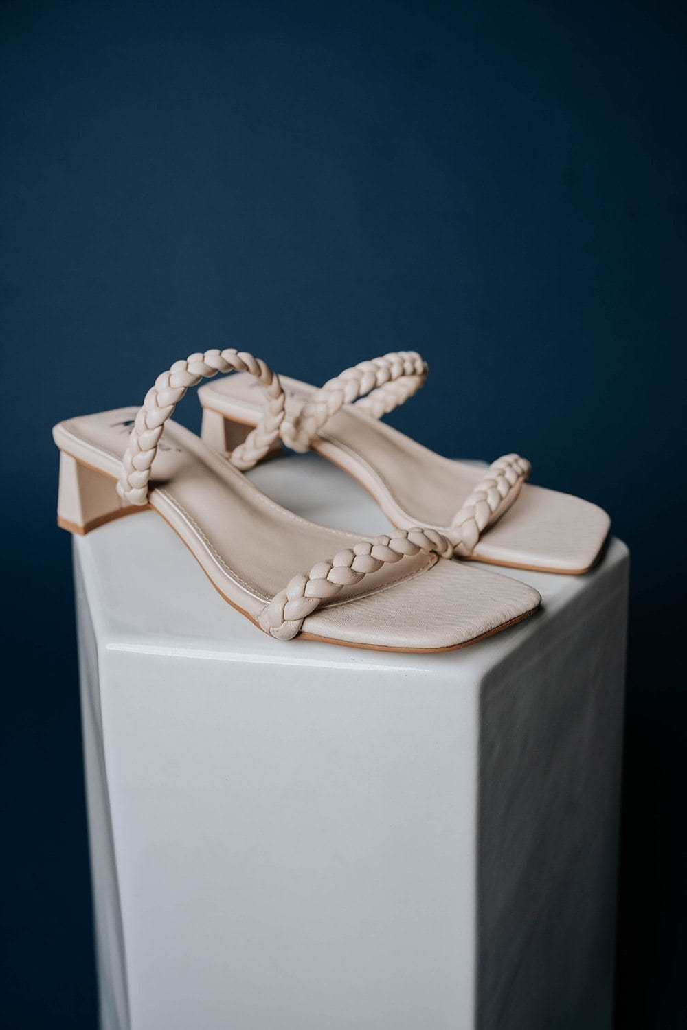 Walk in Rome Heels in Light Taupe, cladandcloth, n/a.