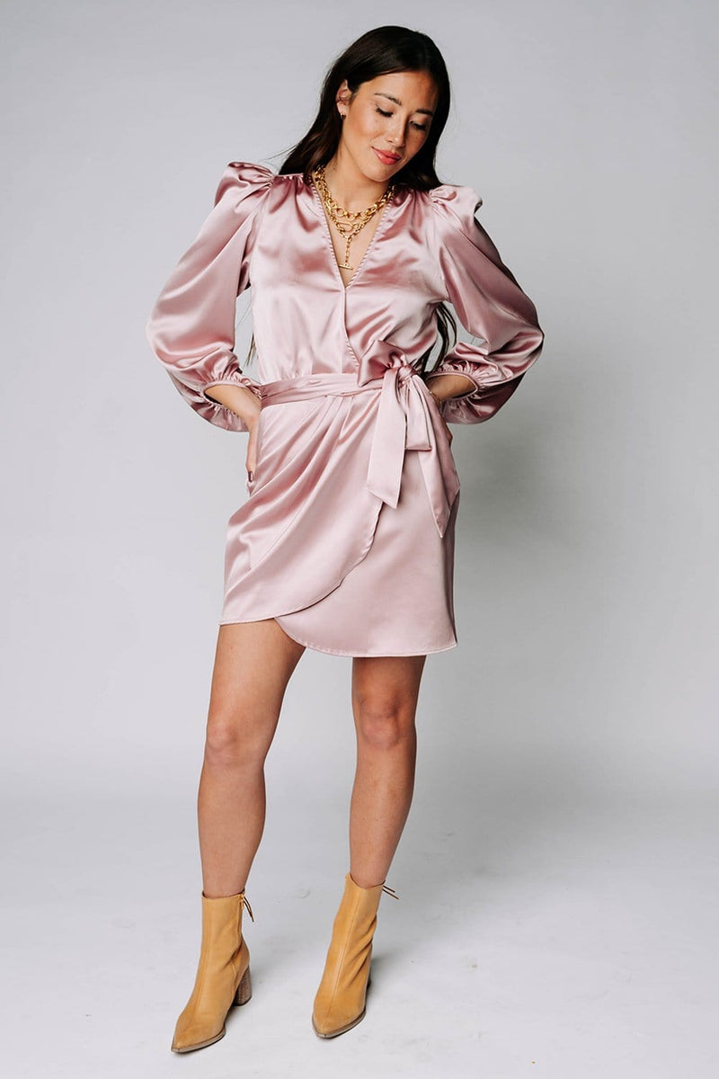 Wedding Crasher Mini Dress in Mauve