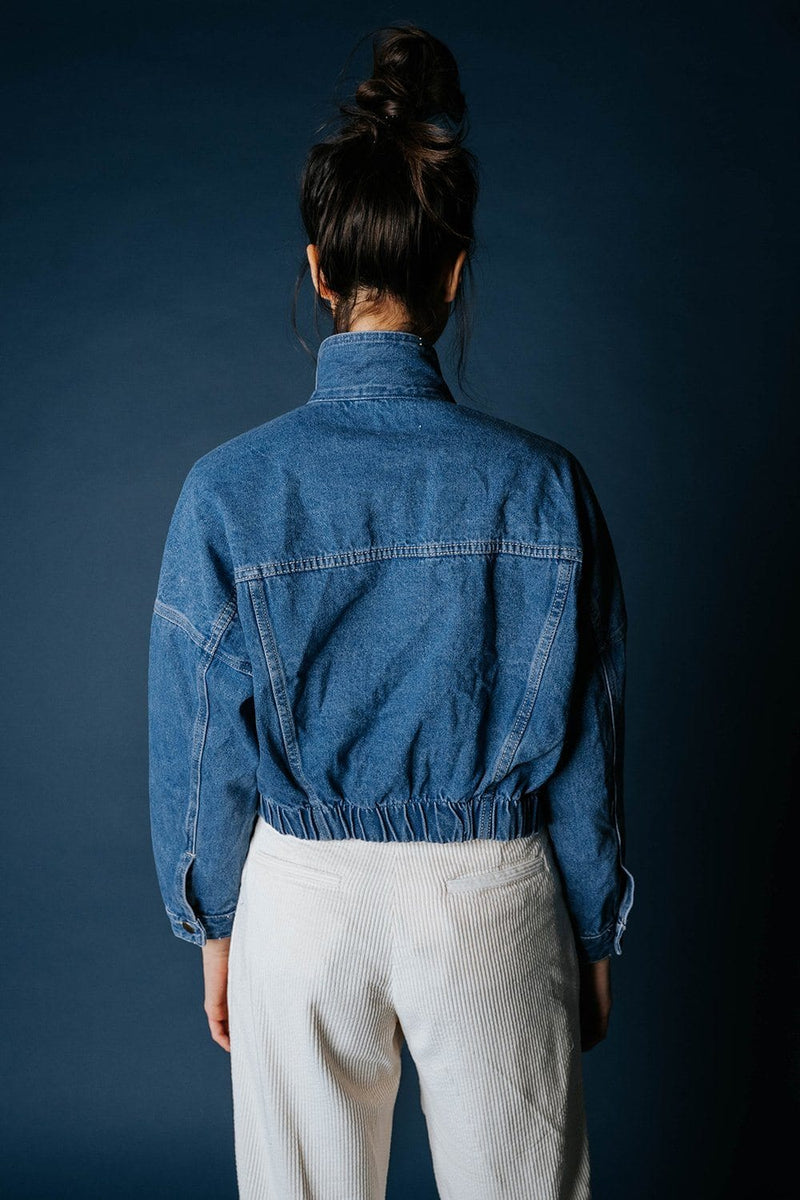 You and I Denim Jacket Top Mono B Clad and Cloth