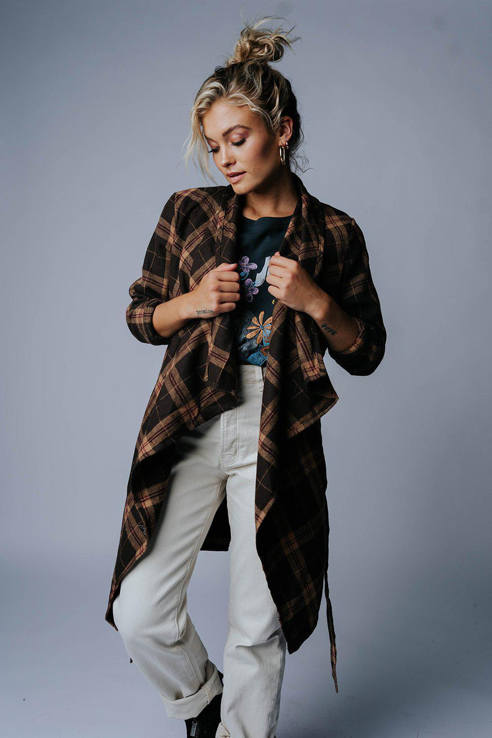Always Free Plaid Jacket-Top-n/a-S-Clad & Cloth