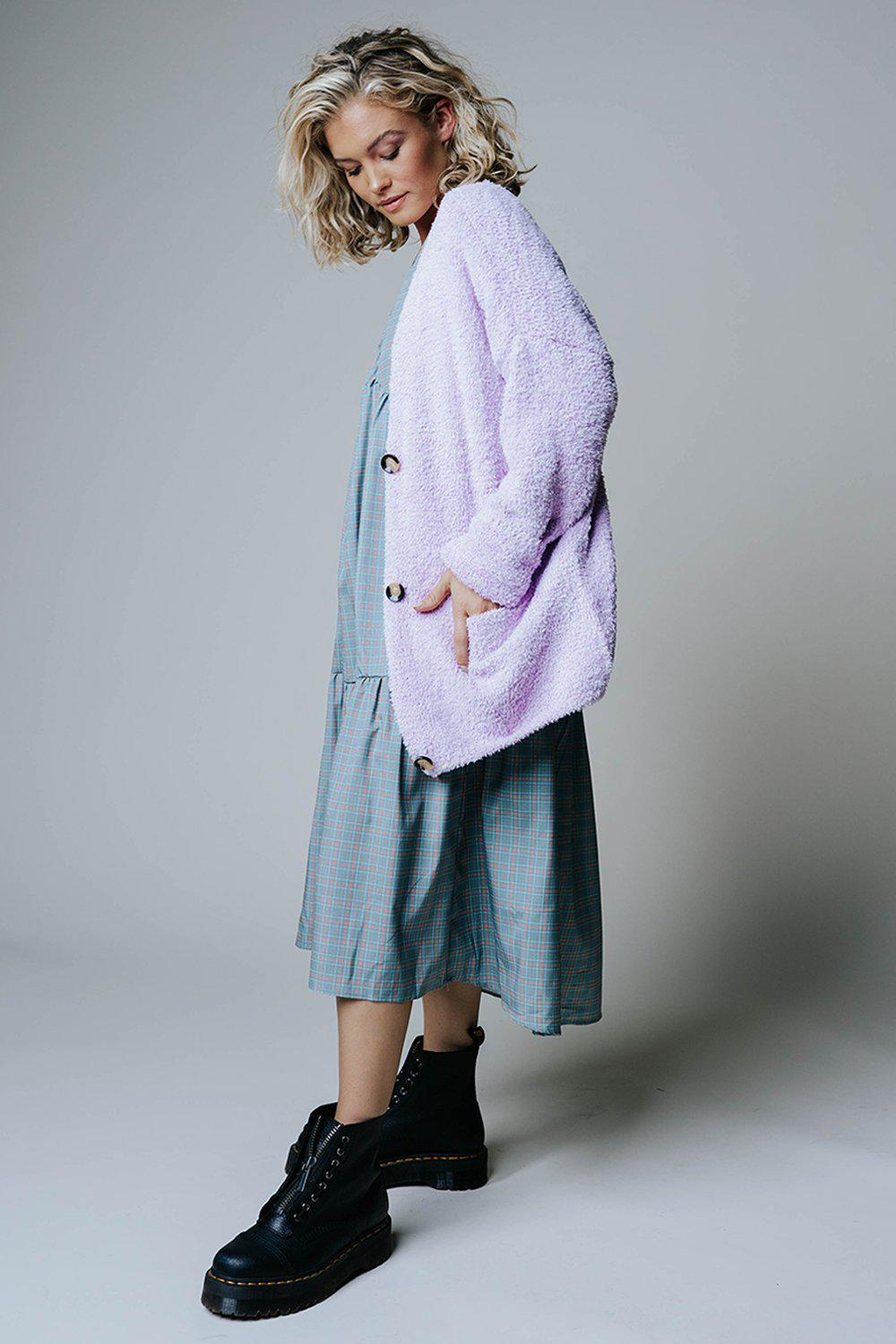 Amber Alley Sweater in Lavender-Top-hyfve-S-Clad & Cloth