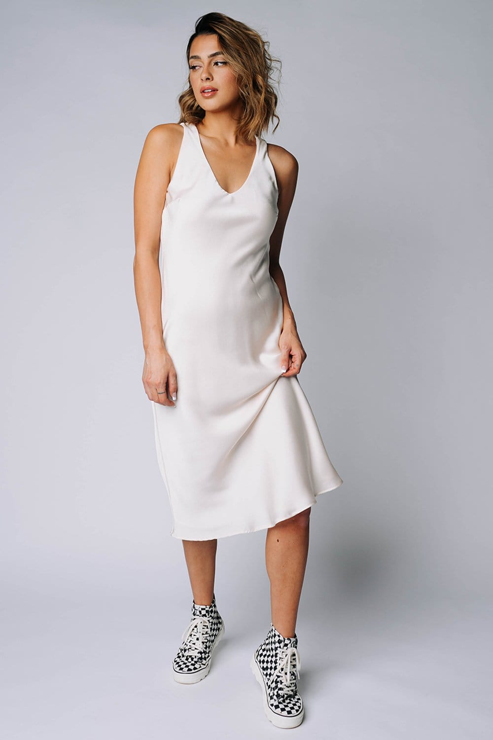 The Andie Dress in Cream