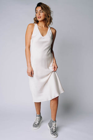 Clad and Cloth, The Andie Dress in Cream, Gilli, Dress.