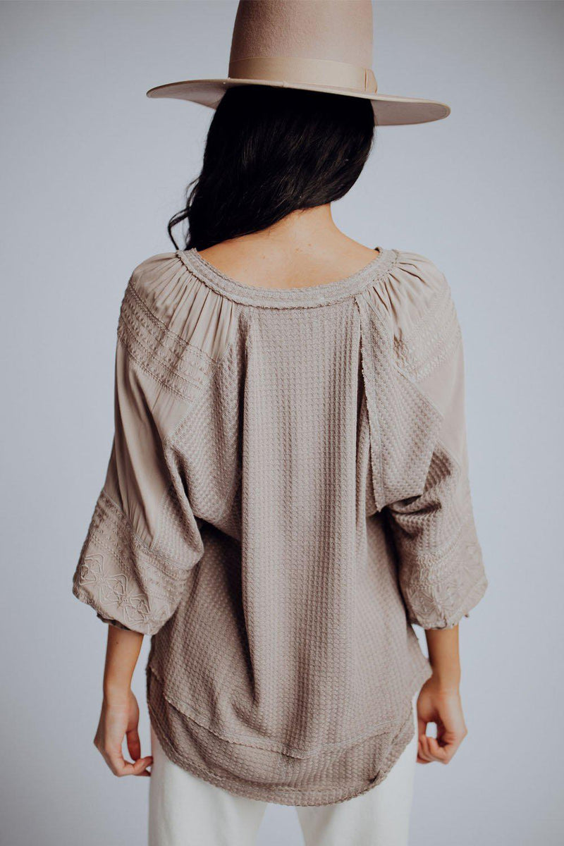 best_seller, Atwood Top in Taupe, , women's clothing, dresses, skirts, coats, jackets, shoes, boots, tops, tee shirts, jeans, free people, levi's, rollas, jumpsuits, bottoms, tops, sweaters, pullovers, pants, shorts, sweats,.