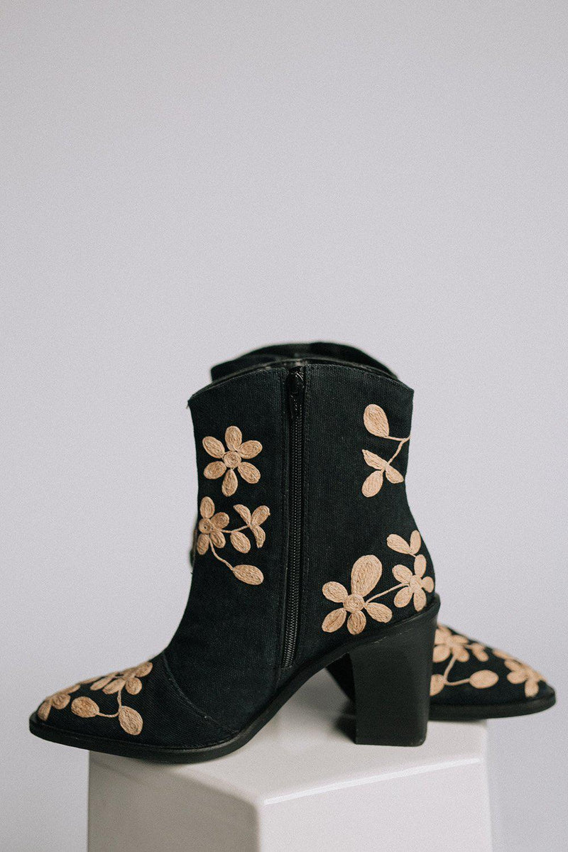 Clad and Cloth, Barclay Ankle Boot in Black Combo  by Free People, Free People, Shoes.