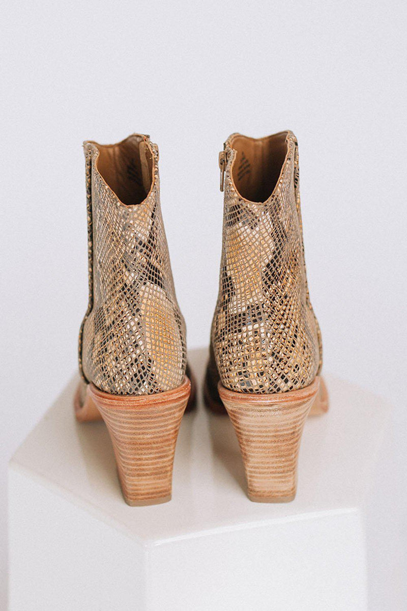 Clad and Cloth, Barclay Ankle Boot in Snake Skin  by Free People, Free People, Shoes.