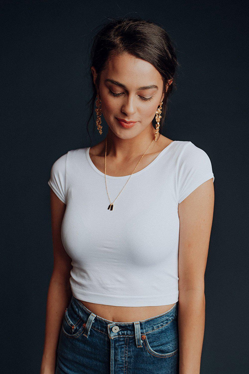 best_seller, Basic Tee in White - FINAL SALE, Tees, women's clothing, dresses, skirts, coats, jackets, shoes, boots, tops, tee shirts, jeans, free people, levi's, rollas, jumpsuits, bottoms, tops, sweaters, pullovers, pants, shorts, sweats,.