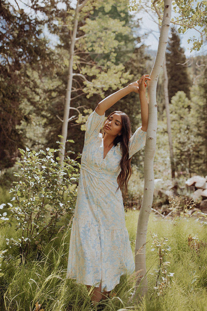 Beauty and a Beat Floral Maxi Dress, cladandcloth.