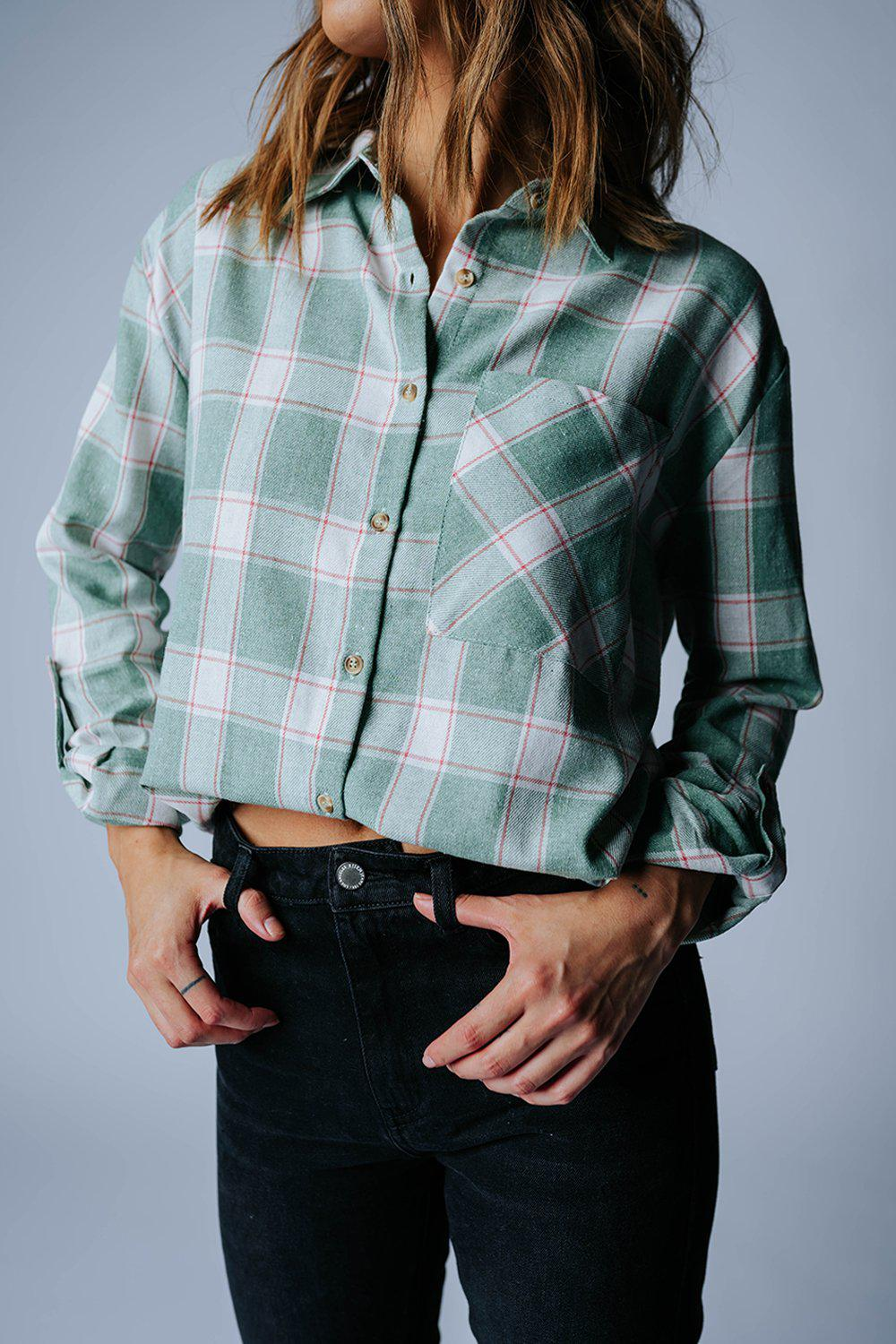best_seller, Block Party Flannel Top in Green, Top, women's clothing, dresses, skirts, coats, jackets, shoes, boots, tops, tee shirts, jeans, free people, levi's, rollas, jumpsuits, bottoms, tops, sweaters, pullovers, pants, shorts, sweats,.