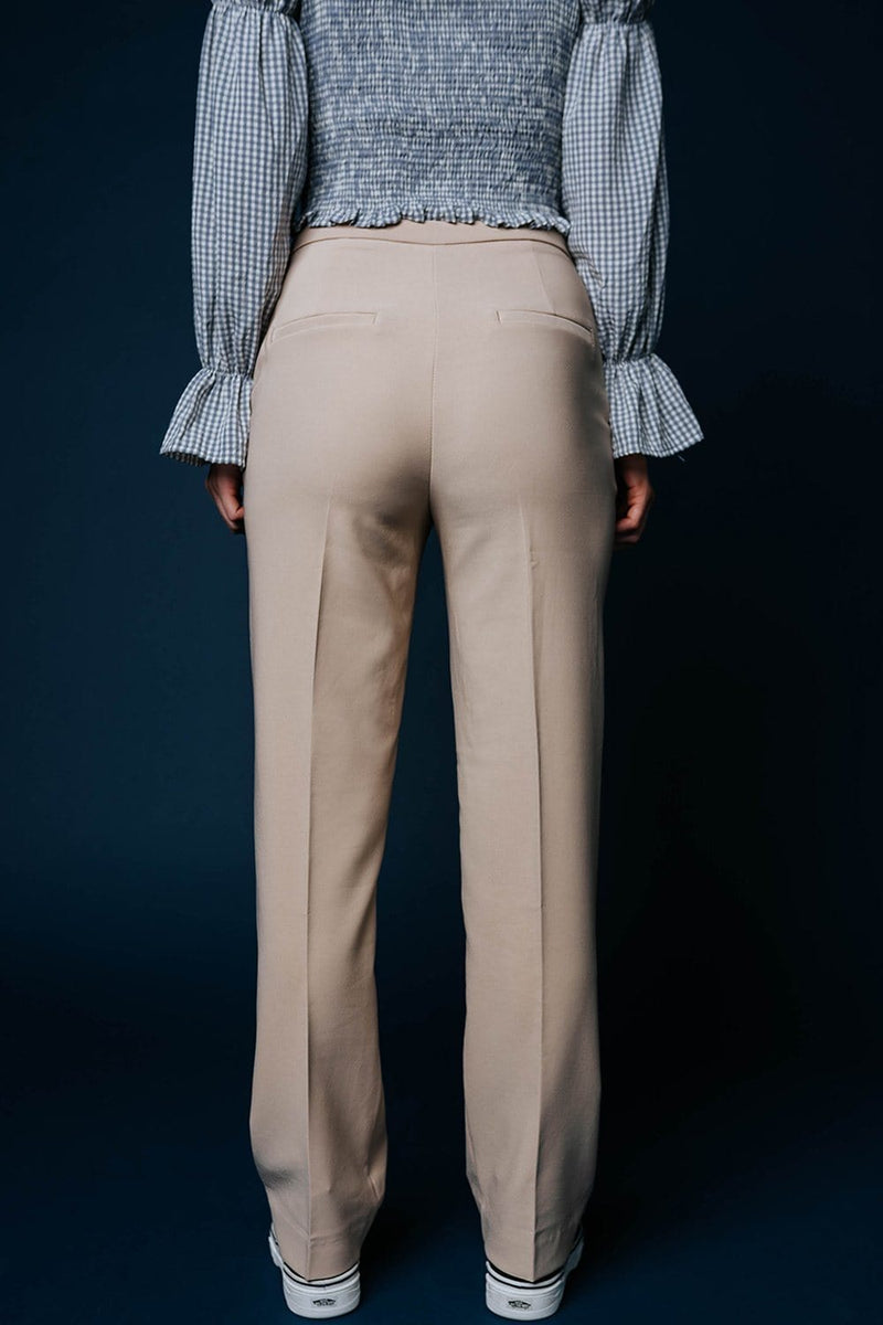 Boss Babe Pants in Taupe-Bottom-n/a-S-Clad & Cloth