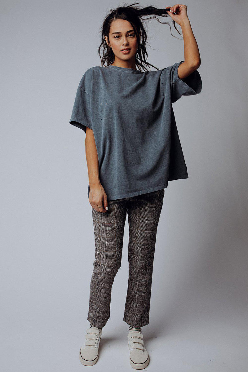 best_seller, Bossy Pants in Grey Plaid, , women's clothing, dresses, skirts, coats, jackets, shoes, boots, tops, tee shirts, jeans, free people, levi's, rollas, jumpsuits, bottoms, tops, sweaters, pullovers, pants, shorts, sweats,.