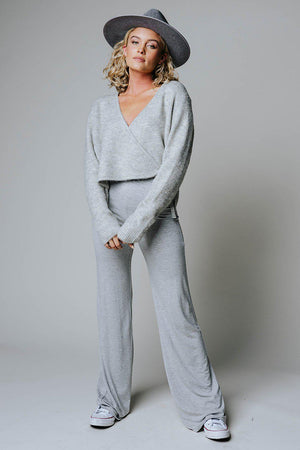 Cold Front Sweater in Heather Grey-Top-Grade & Gather-S-Clad & Cloth