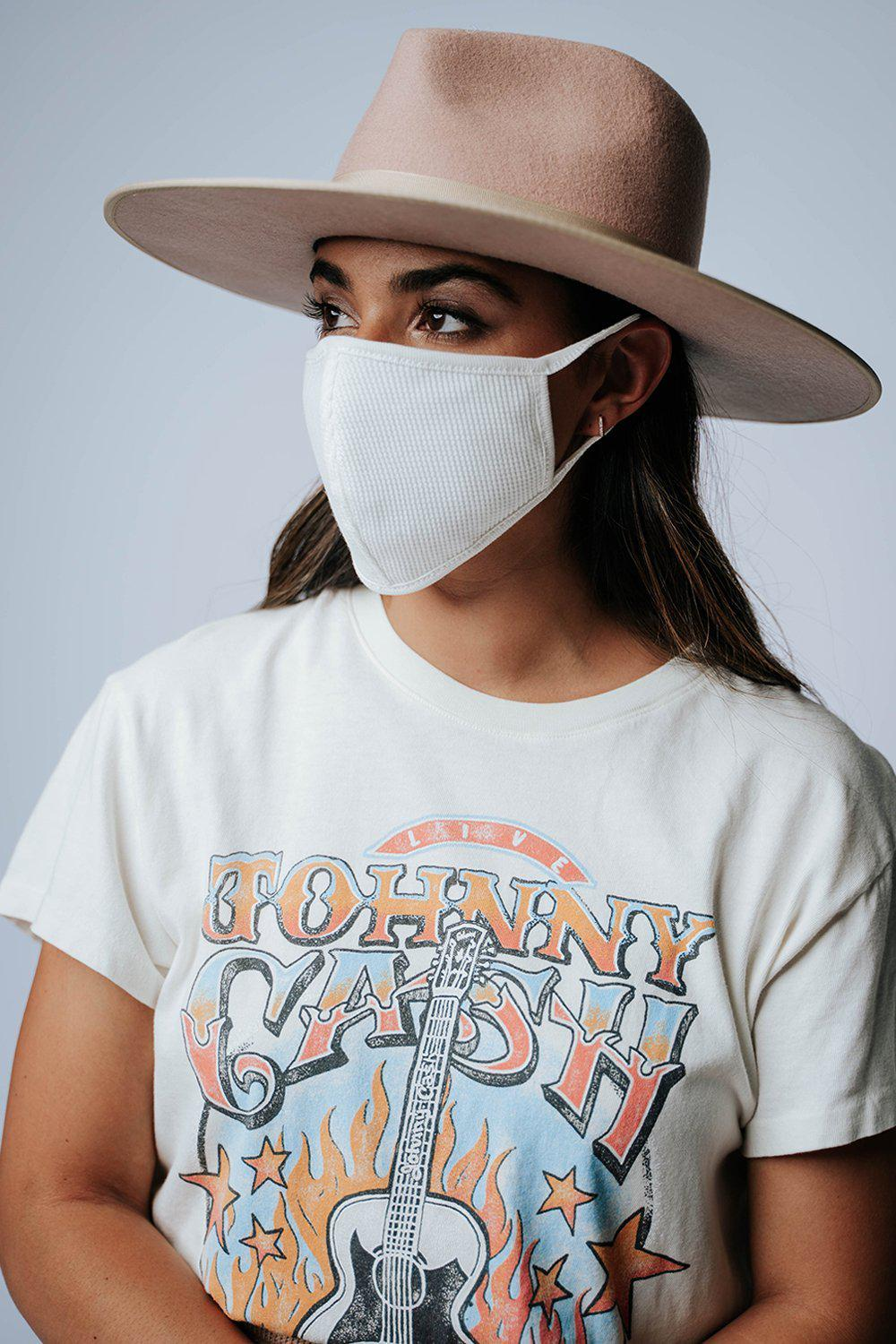 best_seller, Don't Forget Me Face Mask in Ivory - FINAL SALE, Accessory, women's clothing, dresses, skirts, coats, jackets, shoes, boots, tops, tee shirts, jeans, free people, levi's, rollas, jumpsuits, bottoms, tops, sweaters, pullovers, pants, shorts, sweats,.