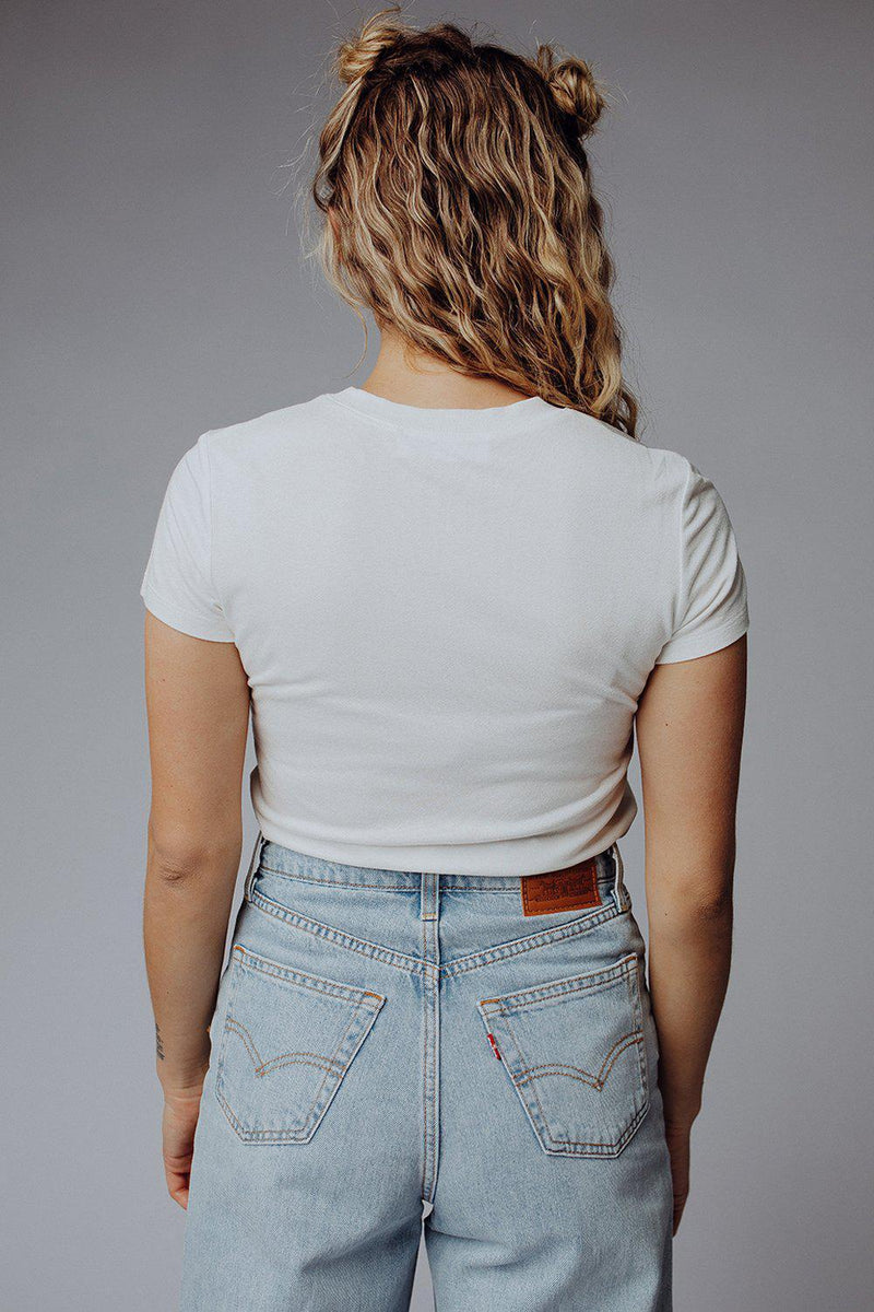 best_seller, Don't Hesitate Tee in Off White, Tees, women's clothing, dresses, skirts, coats, jackets, shoes, boots, tops, tee shirts, jeans, free people, levi's, rollas, jumpsuits, bottoms, tops, sweaters, pullovers, pants, shorts, sweats,.