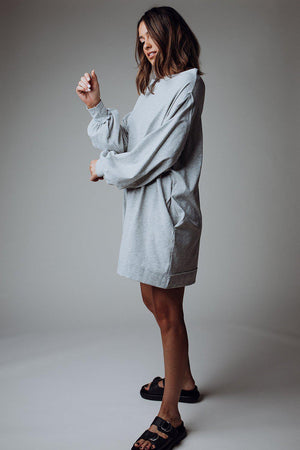 best_seller, Don't Think Twice Dress in Grey - FINAL SALE, Dress, women's clothing, dresses, skirts, coats, jackets, shoes, boots, tops, tee shirts, jeans, free people, levi's, rollas, jumpsuits, bottoms, tops, sweaters, pullovers, pants, shorts, sweats,.