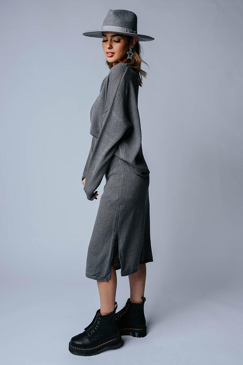 Don't Walk Away Set in Charcoal-Bottom-n/a-S-Clad & Cloth