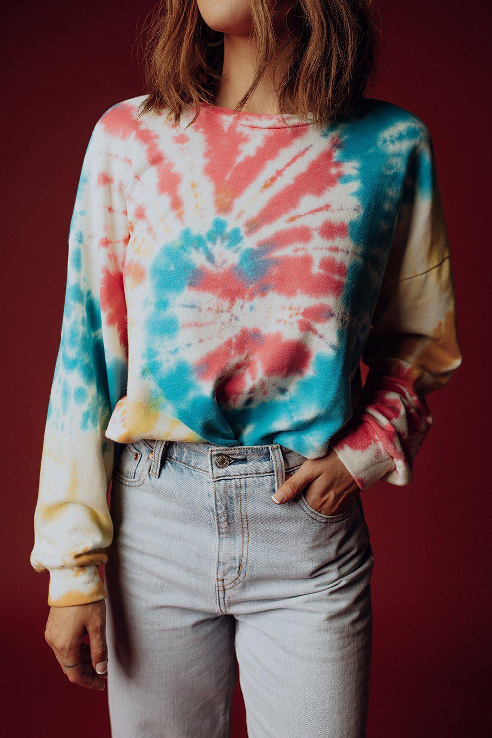 Electric Slidin' Tie Dye Pullover, cladandcloth.