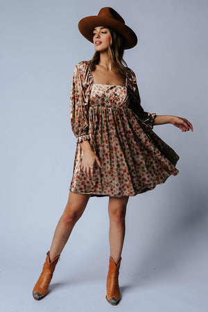 Flowery Feeling Dress-Dress-Storia-S-Clad & Cloth