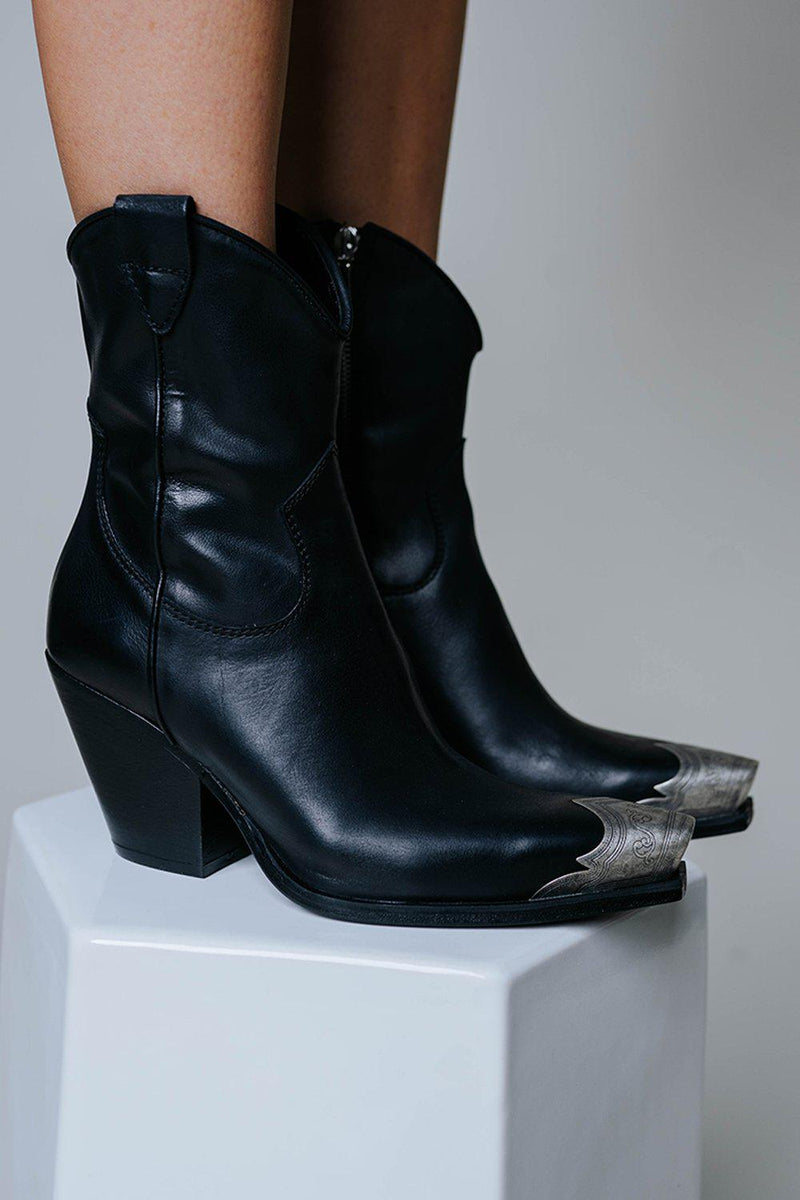 Free People Brayden Western Boot in Black-Shoes-n/a-36-Clad & Cloth