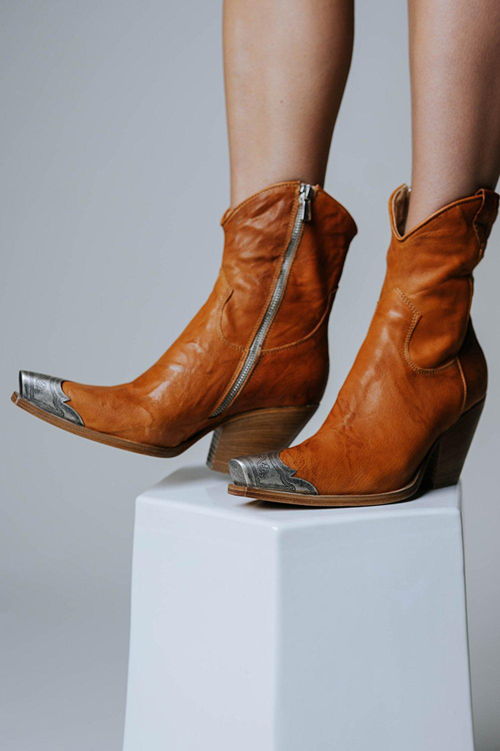 Free People Brayden Western Boot in Tan-Shoes-n/a-36-Clad & Cloth