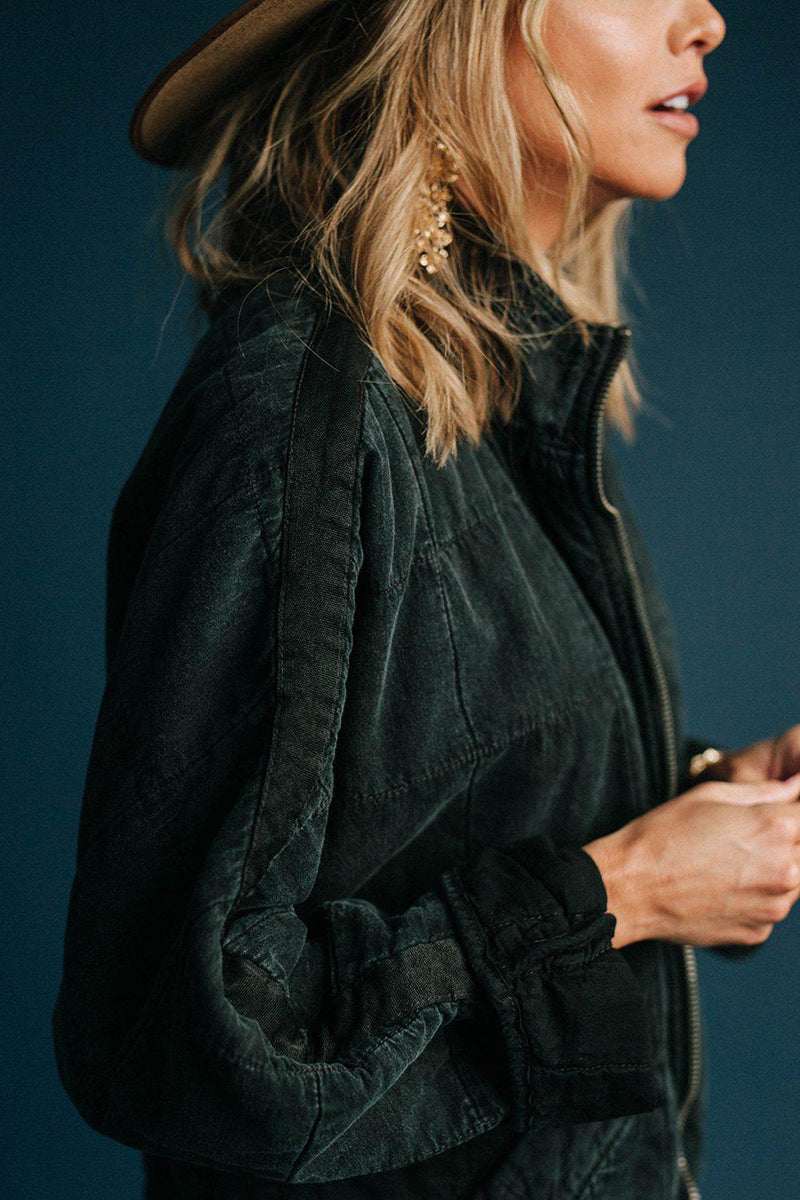 best_seller, Free People Dolman Quilted Jacket in Black, Top, women's clothing, dresses, skirts, coats, jackets, shoes, boots, tops, tee shirts, jeans, free people, levi's, rollas, jumpsuits, bottoms, tops, sweaters, pullovers, pants, shorts, sweats,.