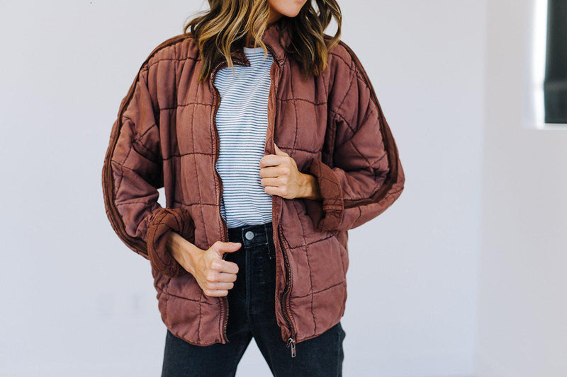 best_seller, Free People Dolman Quilted Jacket in Mauve, Top, women's clothing, dresses, skirts, coats, jackets, shoes, boots, tops, tee shirts, jeans, free people, levi's, rollas, jumpsuits, bottoms, tops, sweaters, pullovers, pants, shorts, sweats,.