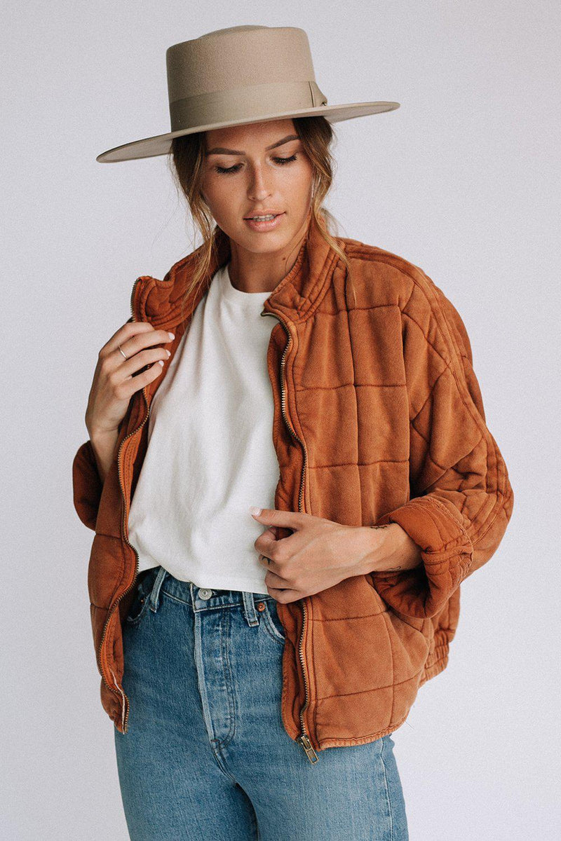 best_seller, Free People Dolman Quilted Jacket in Terracotta, Top, women's clothing, dresses, skirts, coats, jackets, shoes, boots, tops, tee shirts, jeans, free people, levi's, rollas, jumpsuits, bottoms, tops, sweaters, pullovers, pants, shorts, sweats,.
