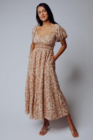 Clad and Cloth, Free People Ellie Printed Maxi Dress, Clad & Cloth, Dress.