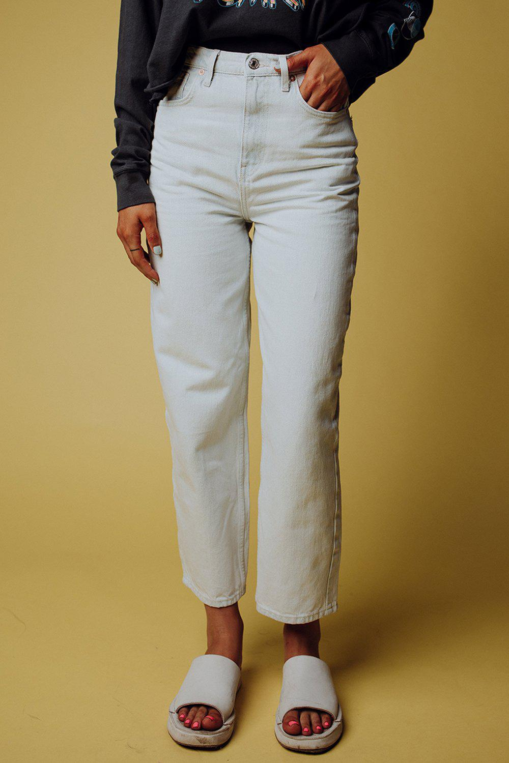 best_seller, Free People Frank Dad Jean in Icy Blue - FINAL SALE, Bottom, women's clothing, dresses, skirts, coats, jackets, shoes, boots, tops, tee shirts, jeans, free people, levi's, rollas, jumpsuits, bottoms, tops, sweaters, pullovers, pants, shorts, sweats,.