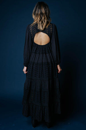 Free People Mockingbird Maxi Dress in Black, cladandcloth, Free People.